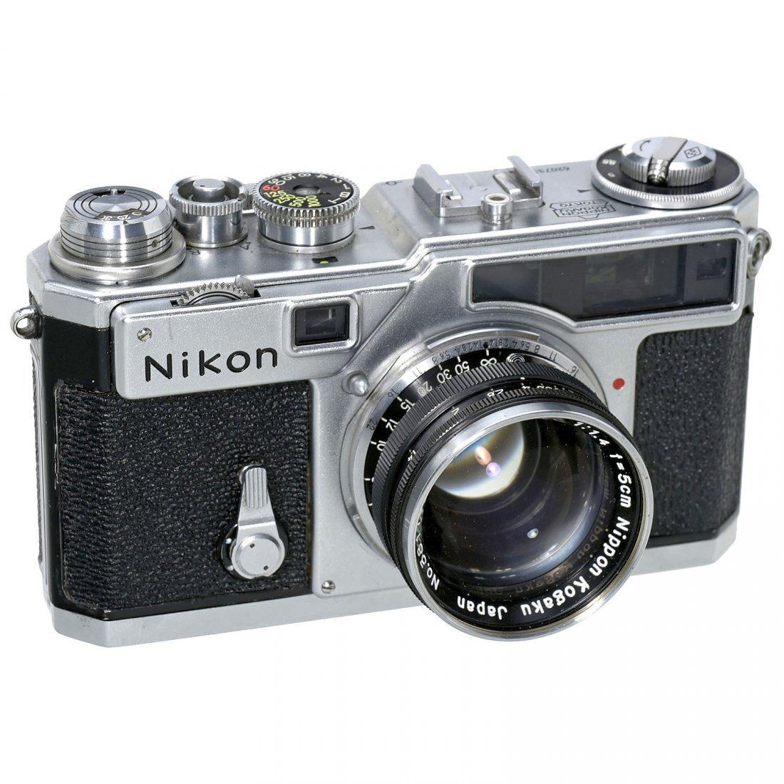 Nikon SP (Chrome) with Nikkor 1,4/5 cm, c. 1957
