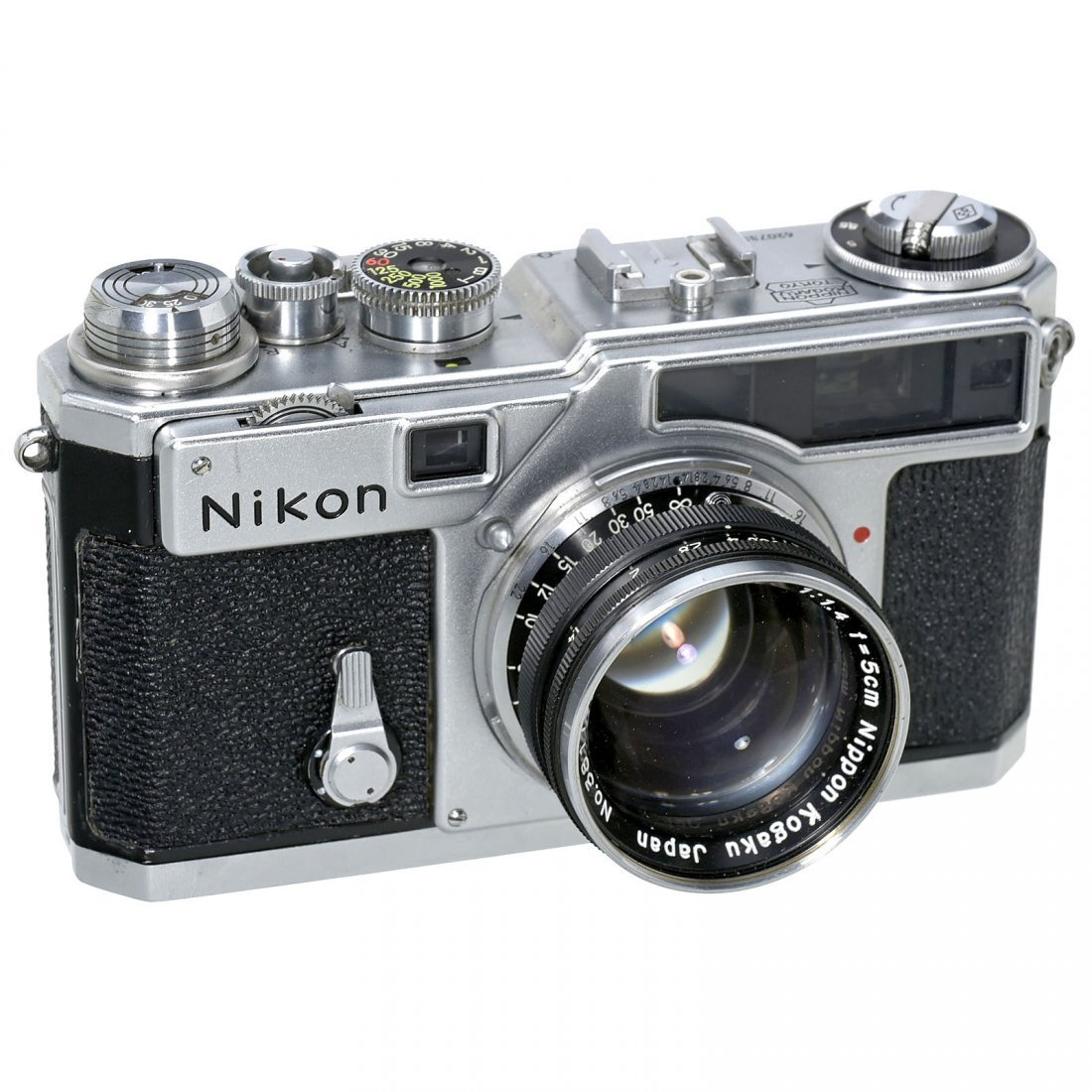 Nikon SP (Chrome) with Nikkor 1,4/5 cm, c. 1957