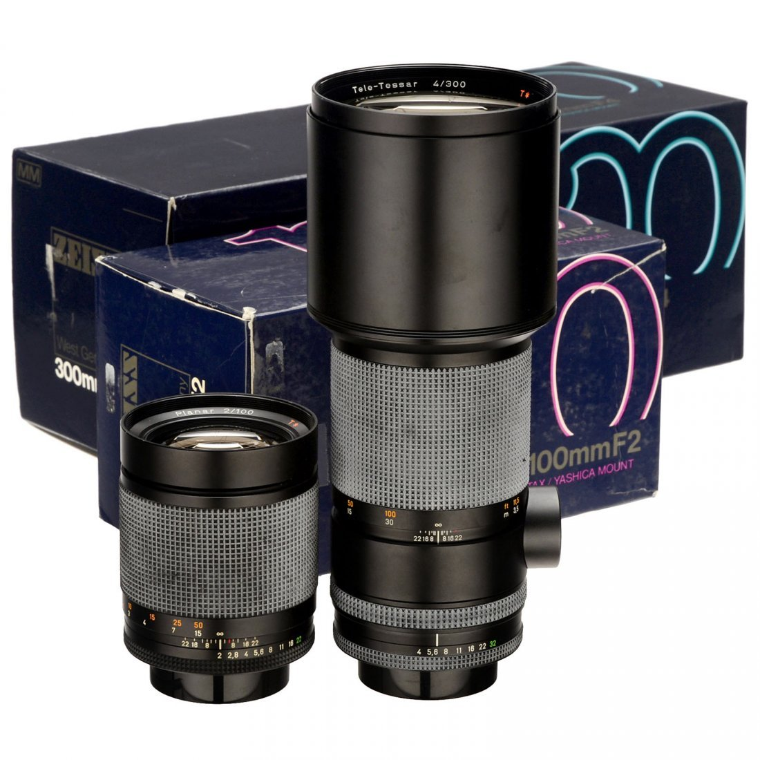 Planar T 2/100 mm (MM) and Tele-Tessar T 4/300 mm (MM)
