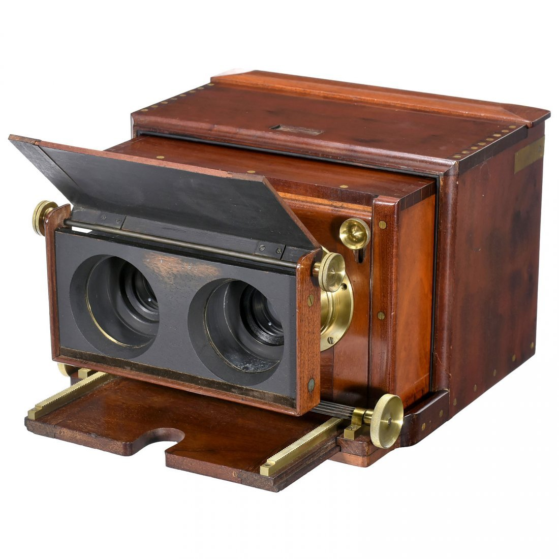 Stereo Wet-Plate Camera by Dallmeyer, c. 1860 - 2