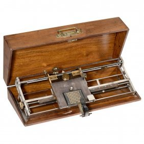 Hall Type Writer (long Carriage), 1881