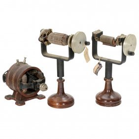 Electric Motor And 2 Armature Models, C. 1910