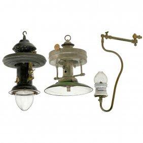 3 Gas Lamps, C. 1915