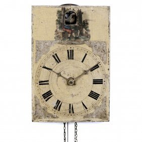 Black Forest Cuckoo Shield Clock, C. 1840