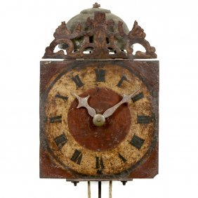 Southern German Iron Wall Clock