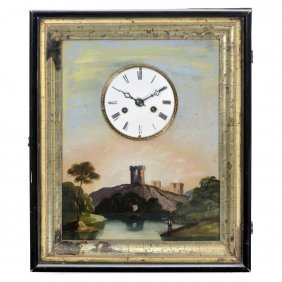 Black Forest Picture Frame Wall Clock, C. 1880