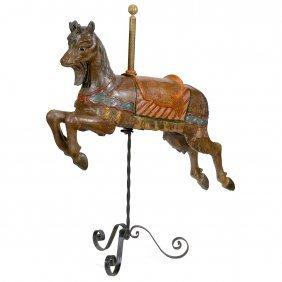 Rare Carved Carousel Goat, C. 1890