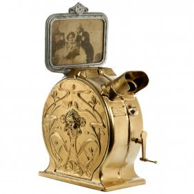 Early German Cast-iron Art-nouveau Style Mutoscope, C.