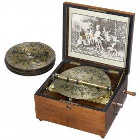 Symphonion Disc Musical Box With Bells No. 48gl, C.