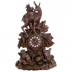 Large Musical Black Forest Clock By G. Baker Troll &