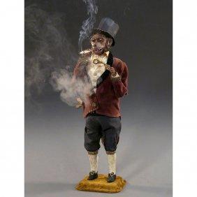 Monkey Gentleman Smoker Automaton By Gustave Vichy, C.