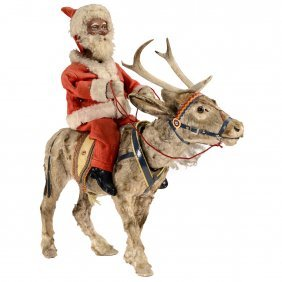 Santa Claus On Reindeer Automaton Nodder, C. 1940