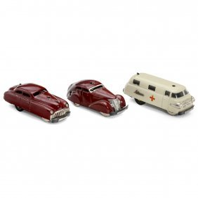 3 Schuco Toy Cars
