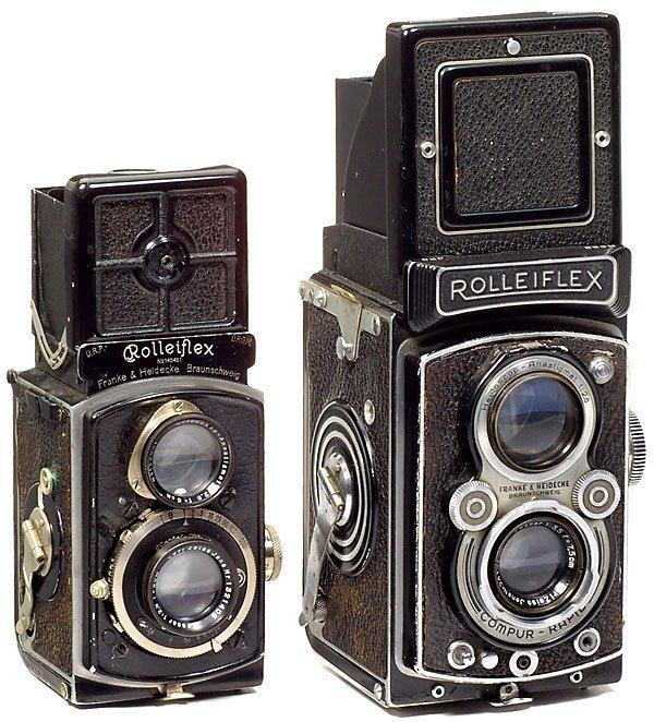 1: 2 Rollei Rolleiflex-Kameras