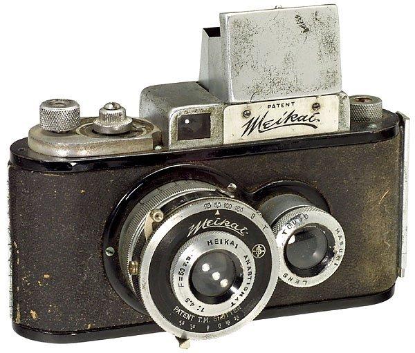 21: Japanese Meikai No. 1, Rare TLR Camera 3x4 cm 1939