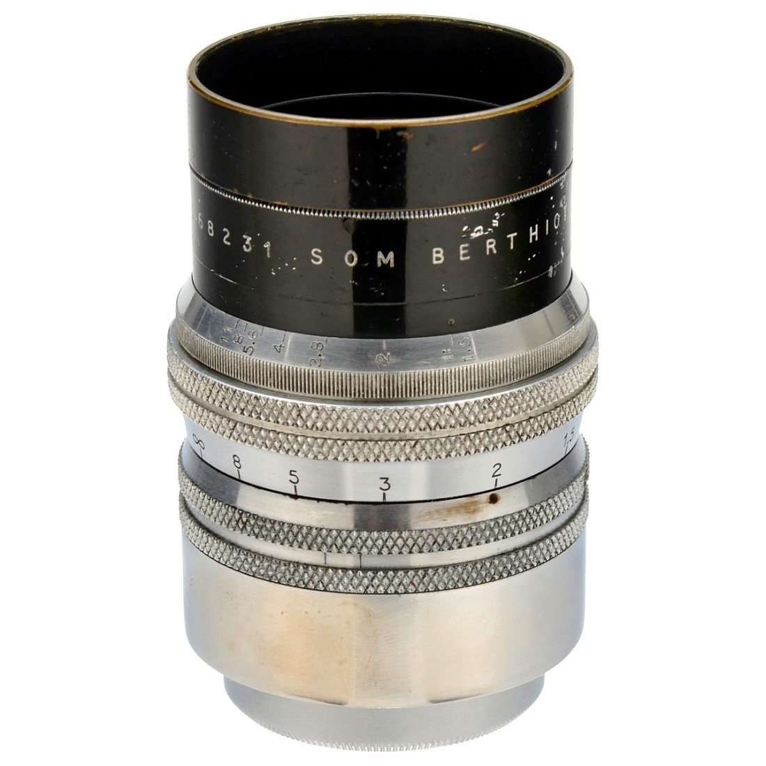 SOM Berthiot Lens 1,5/55 mm for Screw-Mount Leica