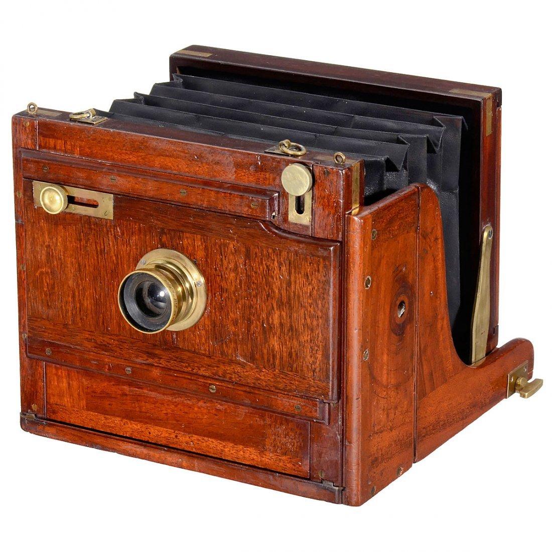 "English Stereo Camera for ""Sliding Lens Board"", c. 1880"