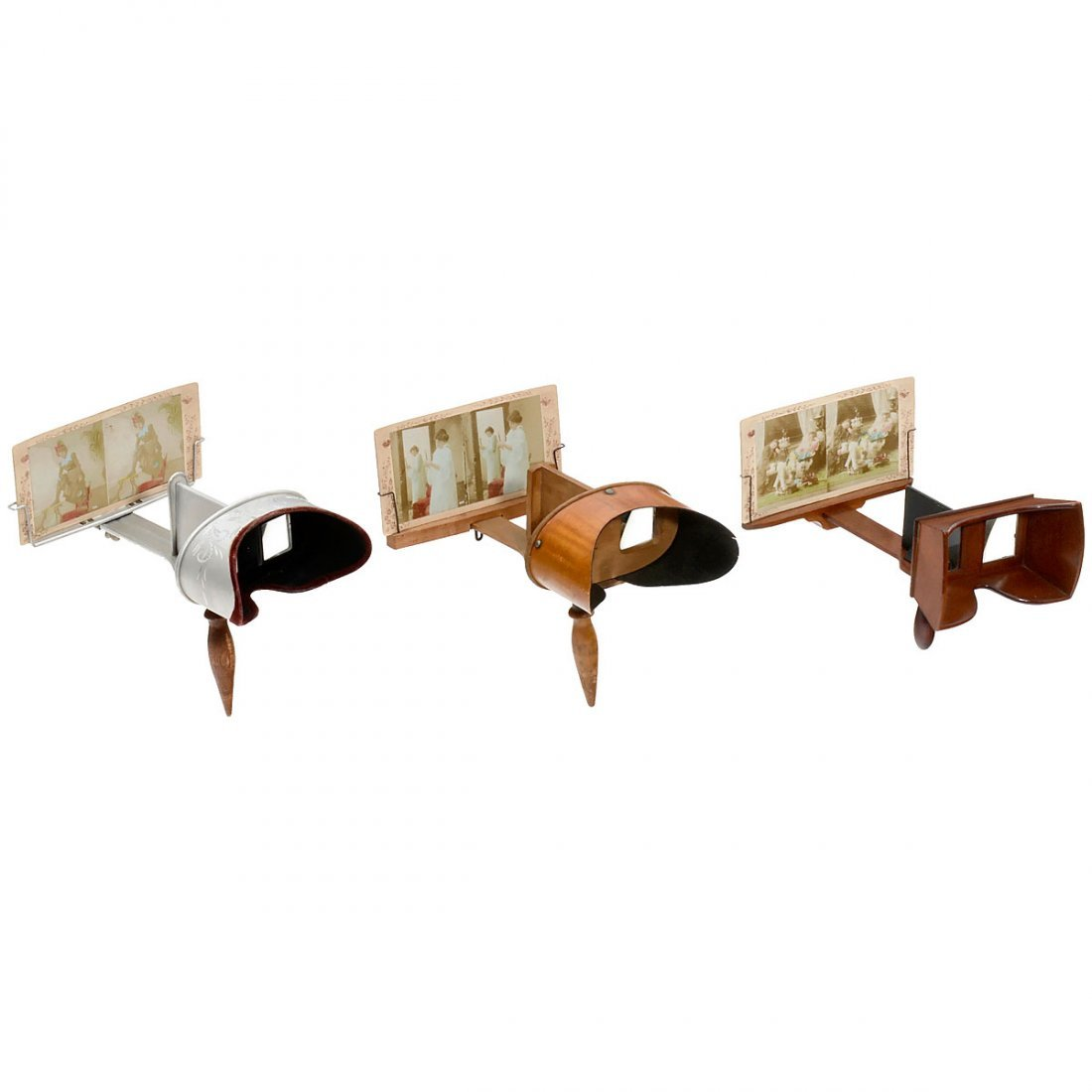 3 Stereo Viewers System Holmes, c. 1900