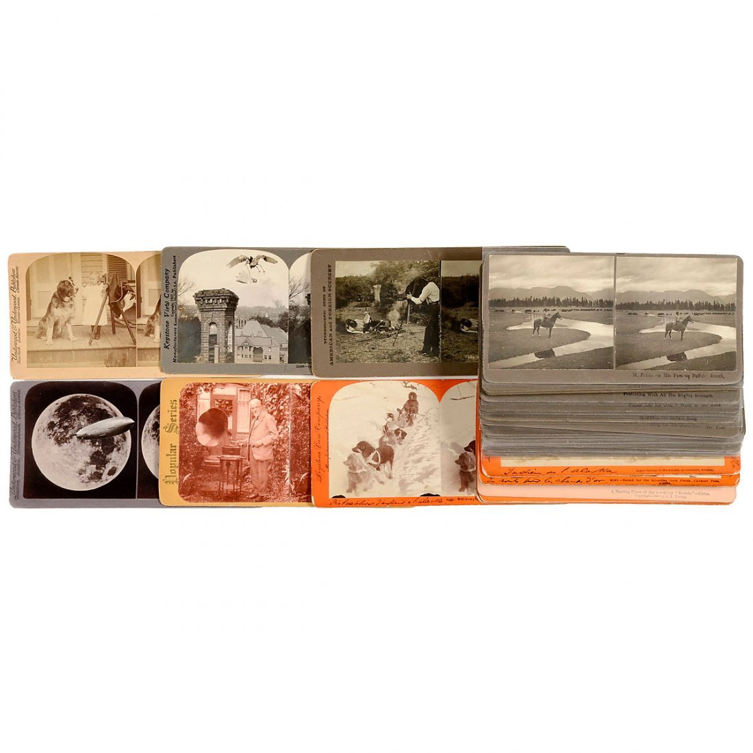 Stereo Cards With Unusual Motifs 9 x 18 cm