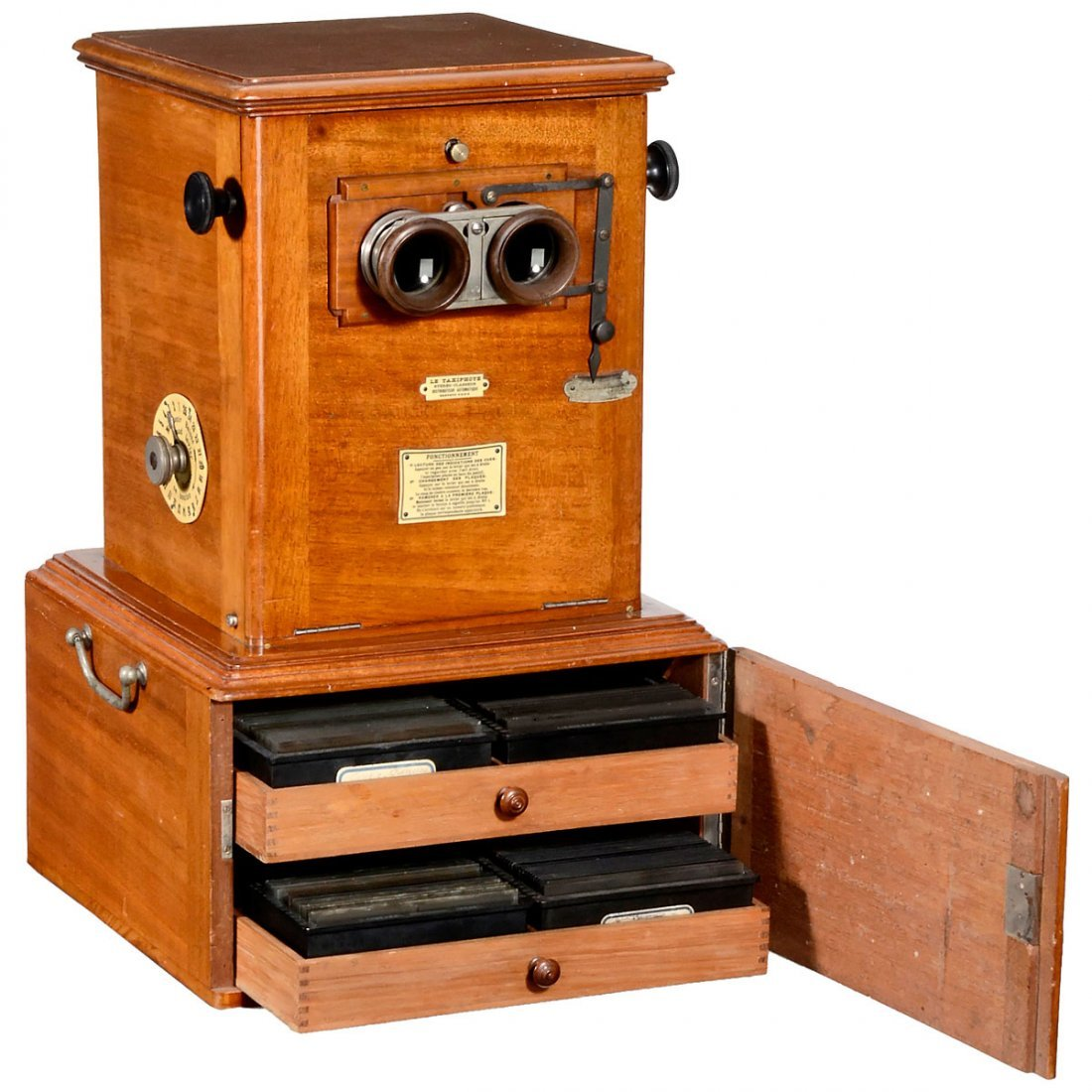 """Early """"Taxiphote"""" Table Stereo Viewer, c. 1900"""