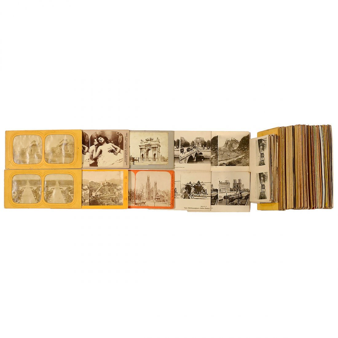Approx. 120 Stereo Cards 9 x 18 cm, 1900 onwards