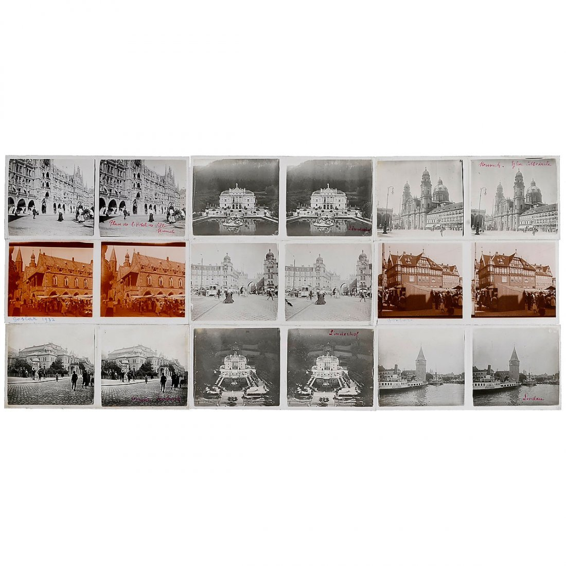Large Collection of Stereo Glass Slides 6 x 13 cm - 2