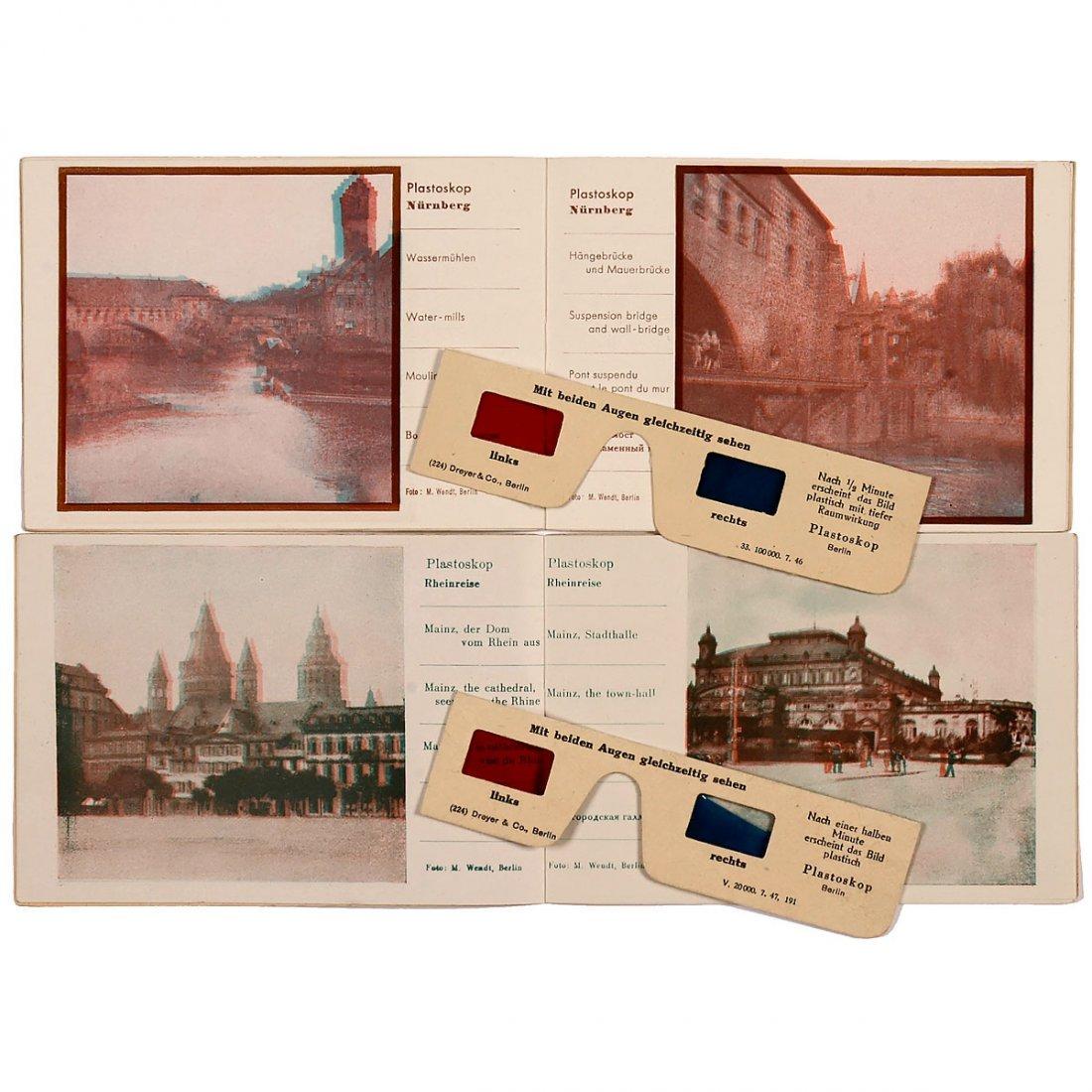 2 Plastoscope Raumbilder Booklets, c. 1947