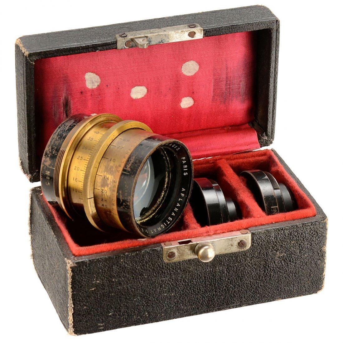 Hermagis Aplanastigmat No. 5 Convertible Lens, c. 1905