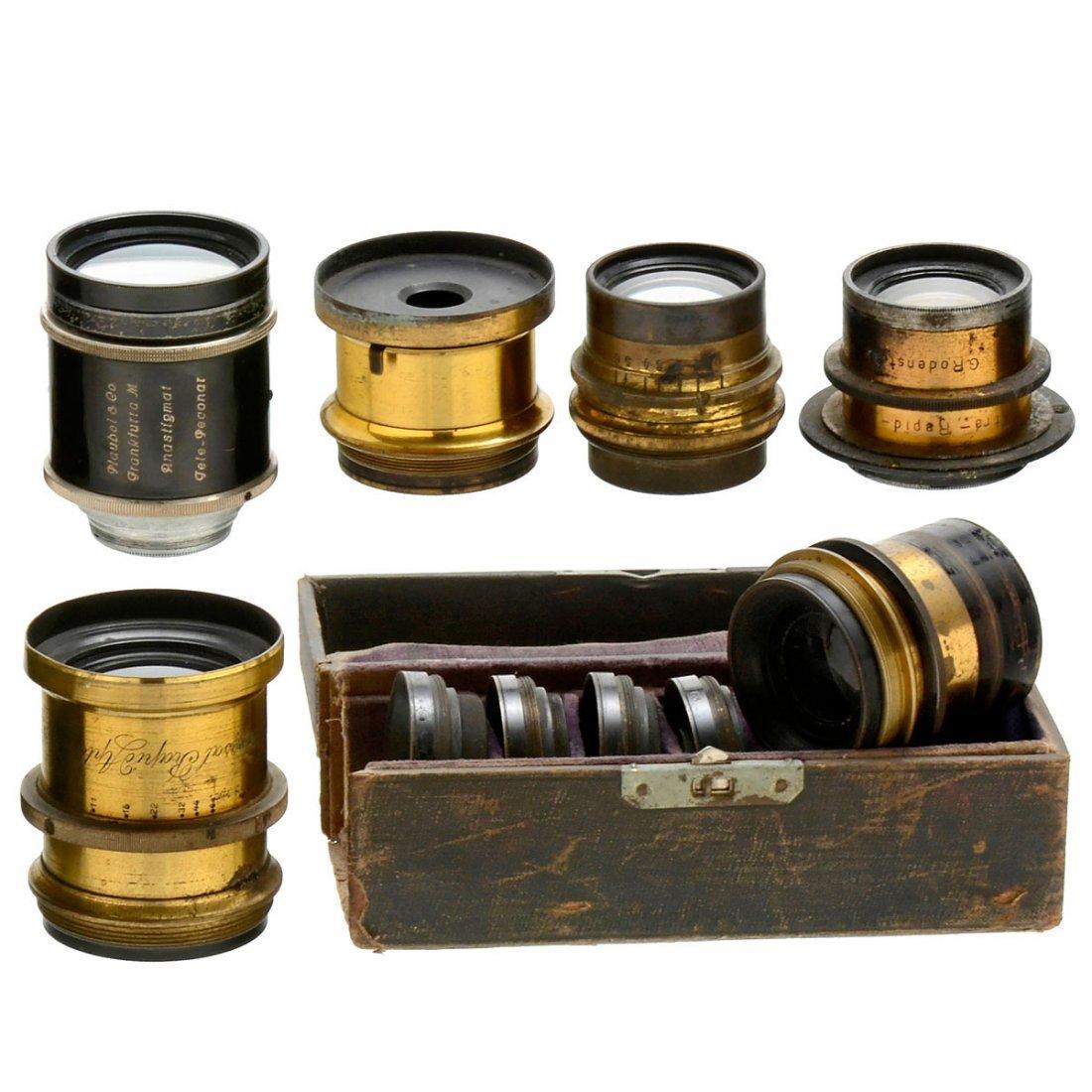 Lot of Brass Lenses, 1880 onwards