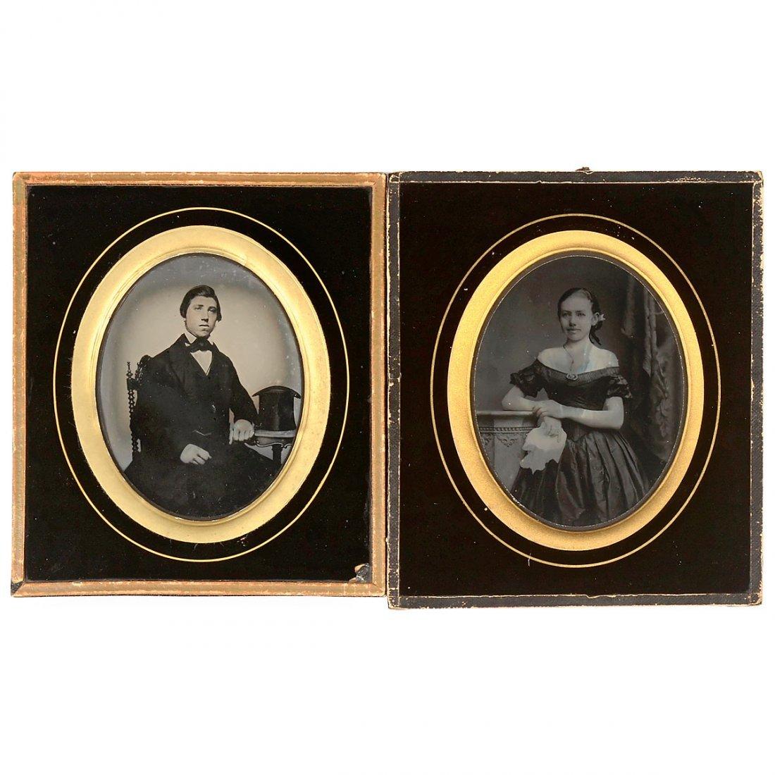2 Ambrotypes, c. 1850