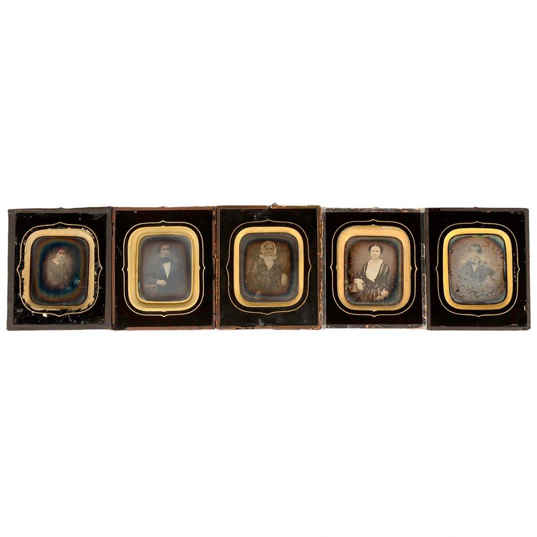 5 Daguerreotypes, c. 1845