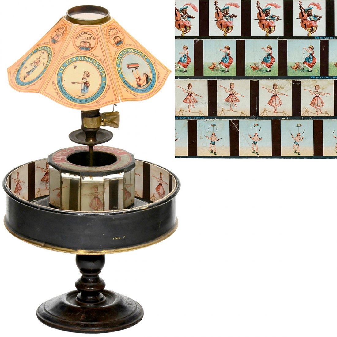 "The Original ""Le Praxinoscope"" by Emil Reynaud, Paris,"