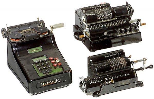 5: 3 Calculating Machines calculators Rechenmaschinen