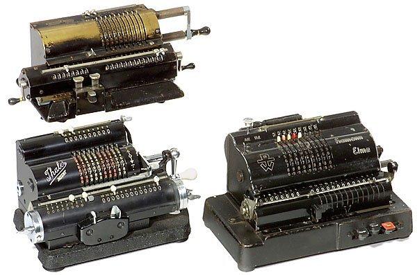 7: 3 Calculators  Rechenmaschinen