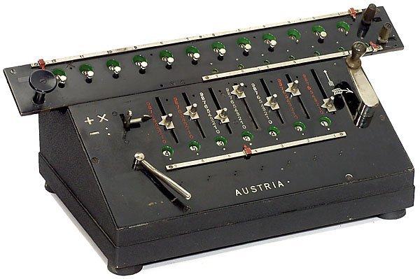 9: Arithmometer Austria Mod. IV, c. 1908 calculator Rec