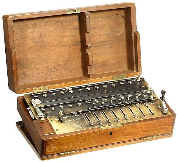 10: Arithmometer TIM, 1907 calculator Rechenmaschine