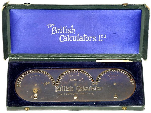 15: Rare model of the early English adder calculator Re