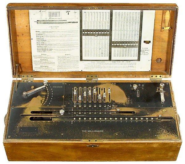 16: The Millionaire, 1895 calculator Rechenmaschine