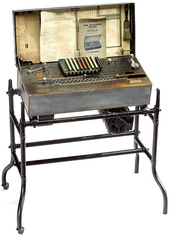 18: The Millionaire, 1893 calculator Rechenmaschine