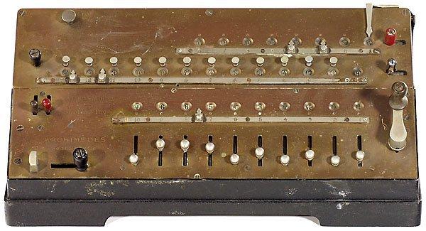 21: Archimedes Mod. C, 1912 calculator Rechenmaschine