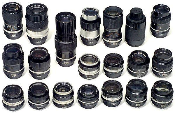 760: giant lot of 20 Nikon Lenses / Objektive