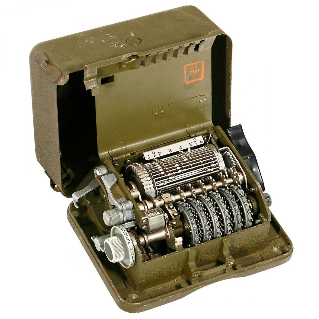 "Rare American 6-Rotor Cryptographic Machine ""M-209-B"", - 2"