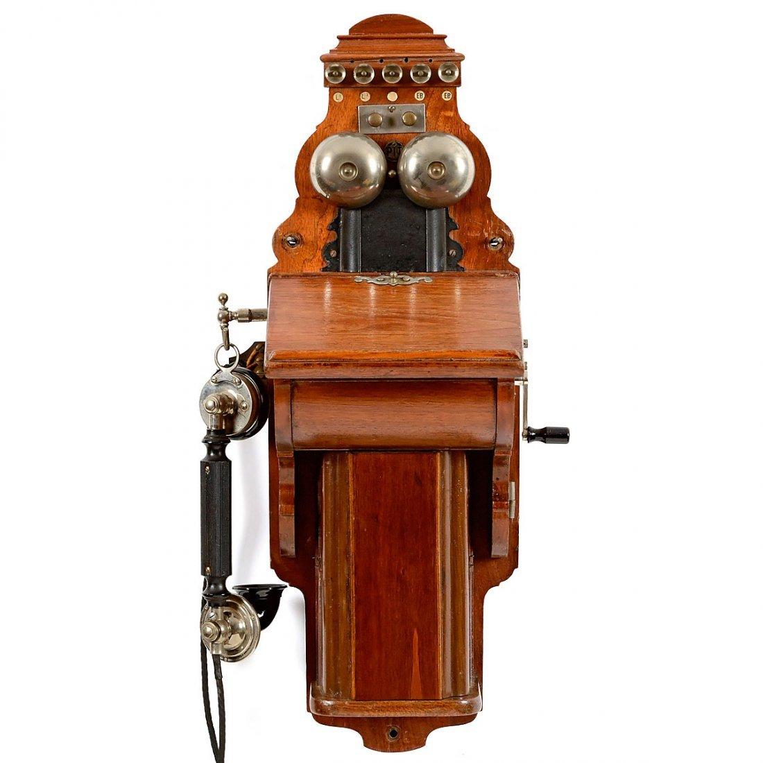 L.M. Ericsson Type B Wall Telephone, 1921