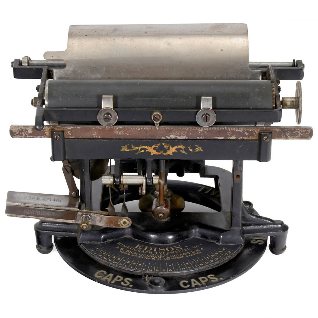 Edison Mimeograph Typewriter No. 1, 1894