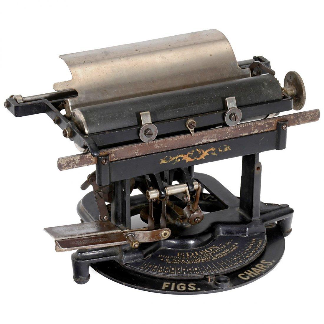 Edison Mimeograph Typewriter No. 1, 1894 - 2