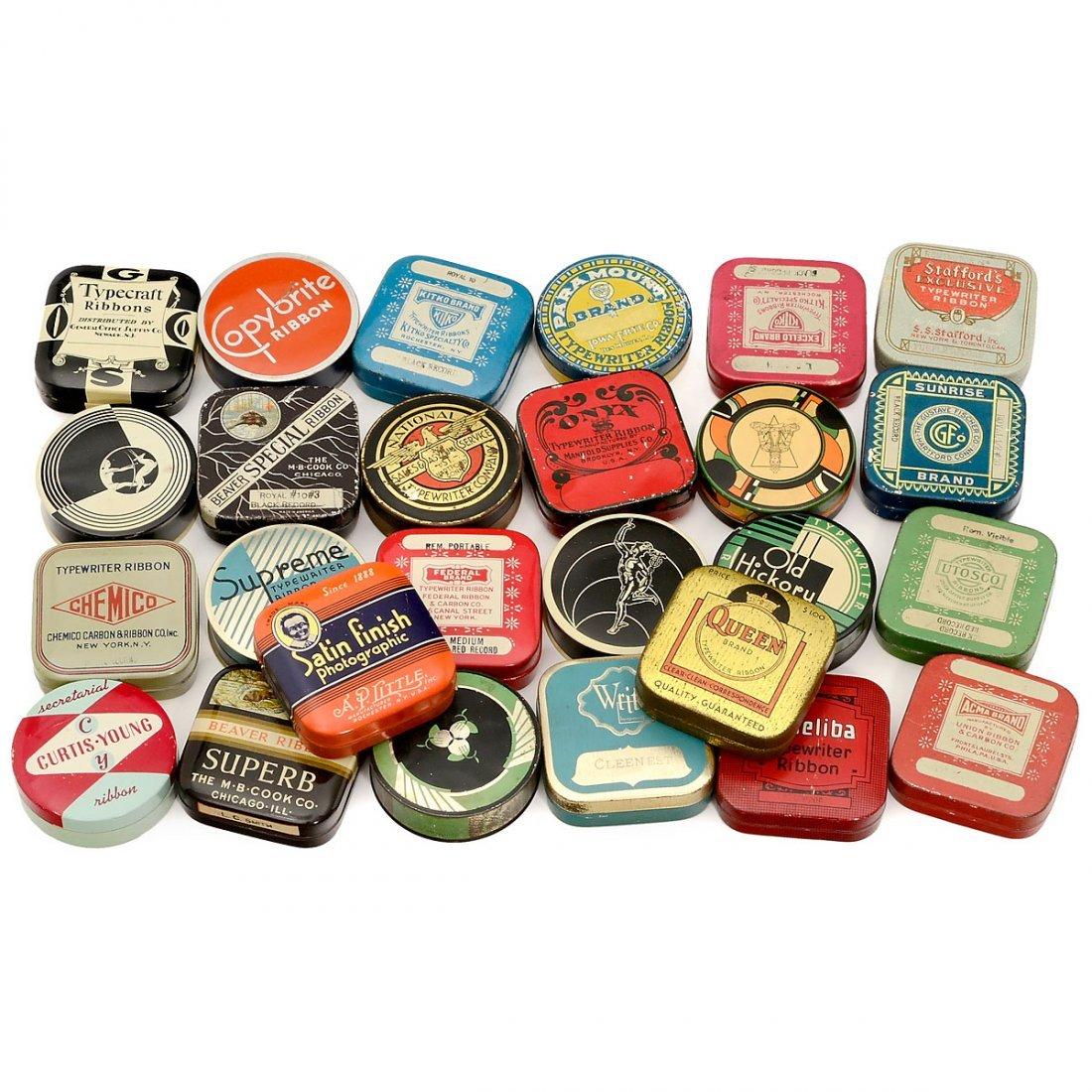 26 Typewriter Ribbon Tins