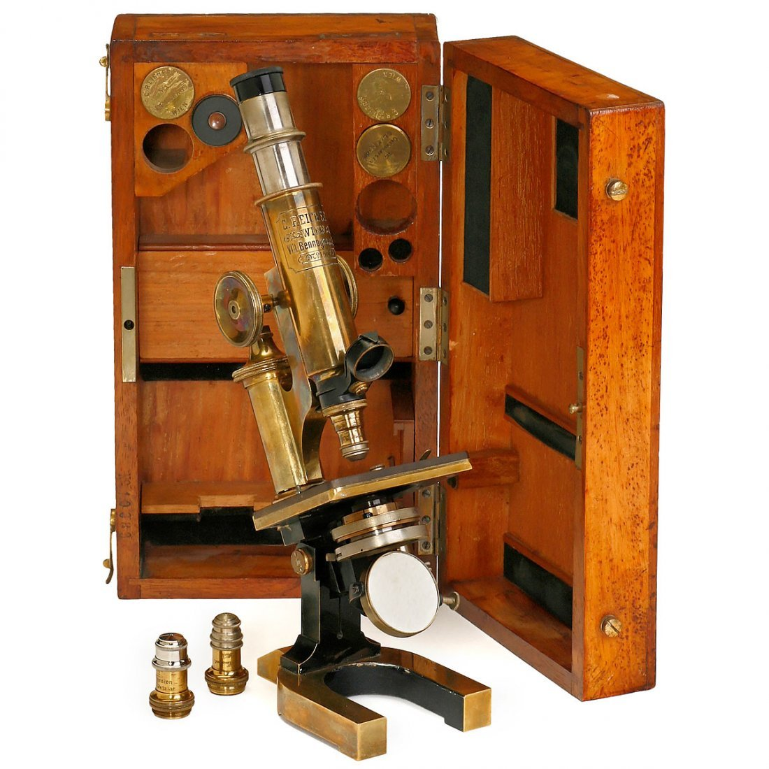 Reichert Compound Monocular Microscope, c. 1890