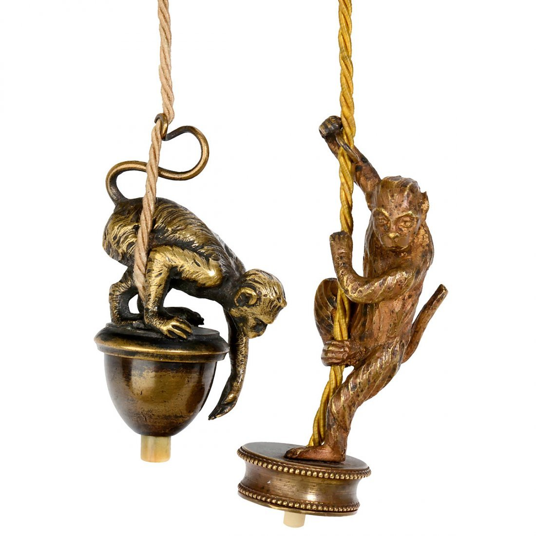 5 Electrical Table Bells Depicting Monkeys, c. 1910 - 4