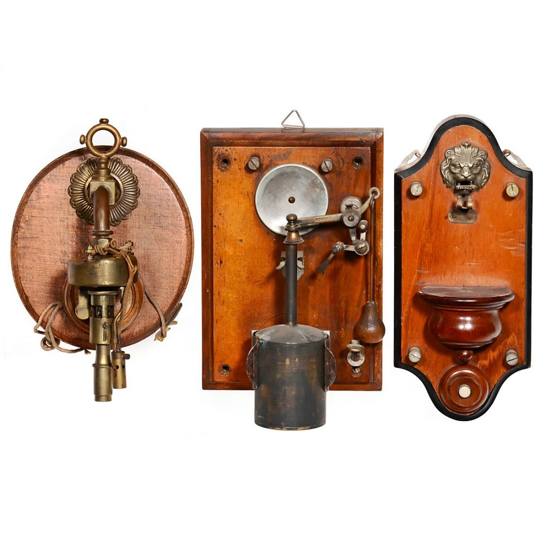 3 Early Electric Lighters, c. 1910