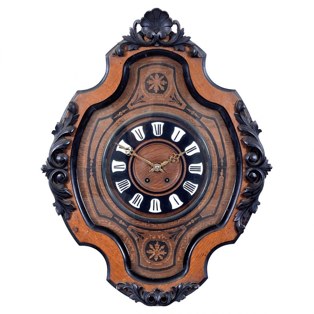 "French ""Bull's Eye"" Wall Clock, c. 1870"